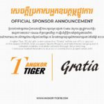 【New Sponsorship Announcement】Angkor Tiger FC announce a new sponsorship deal with Gratia